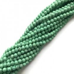 Turkus syntetyczny kulka 4mm sznurek zielony pastelowy