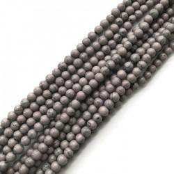 Turkus syntetyczny kulka 6mm sznurek szary