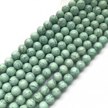 Turkus syntetyczny kulka 10mm sznurek jasny turkus