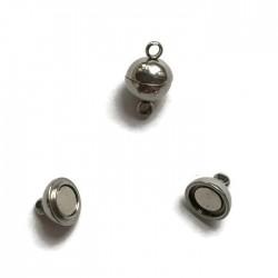 Zapięcie magnetyczne kulka 10x5,5mm stal nierdzewna