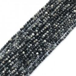 Agat kulka fasetowana 3-3,5mm sznurek