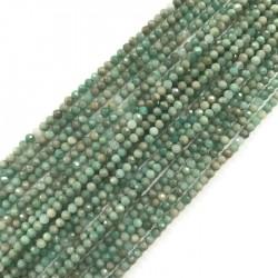 Amazonit kulka fasetowana 3-3,5mm sznurek