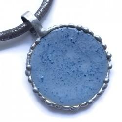 Wisior lutowany koło ceramiczne, niebieski