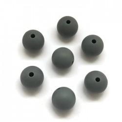 Kulki, koraliki silikonowe, gryzaki kulka 12mm ciemno szary