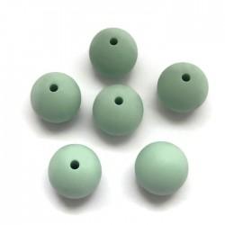 Kulki, koraliki silikonowe, gryzaki kulka 14-15mm miętowy