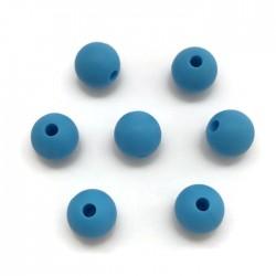 Kulki, koraliki silikonowe, gryzaki kulka 8-10mm niebieski
