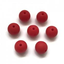 Kulki, koraliki silikonowe, gryzaki kulka 12mm czerwony