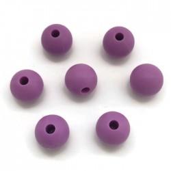 Kulki, koraliki silikonowe, gryzaki kulka 8-10mm fiolet