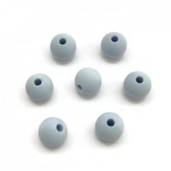 Kulki, koraliki silikonowe, gryzaki kulka 8-10mm błękit