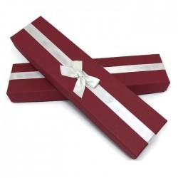 Pudełko prezentowe na bransoletkę czerwone 22,5x6cm