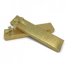 Pudełko prezentowe na bransoletkę złote 21x4,5cm