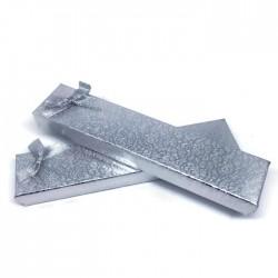 Pudełko prezentowe na bransoletkę srebrne 21x4,5cm