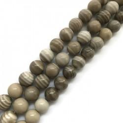Krzemień pasiasty kulka 12mm sznurek