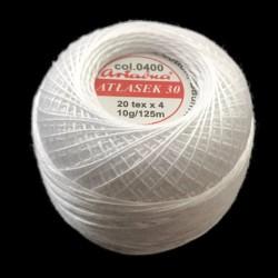 Kordonek biały cienki Atłasek30 Ariadna 10g