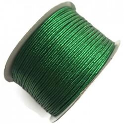 Sznurek sutasz metalizowany zielony 2,7mm soutache