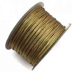 Sznurek sutasz metalizowany złoty 2,7mm soutache
