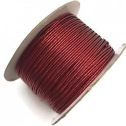 Sznurek sutasz metalizowany czerwony 2,7mm soutache