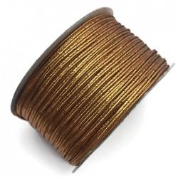 Sznurek sutasz metalizowany ciemny złoty 2,7mm soutache