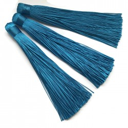 Chwosty frędzle z wiskozy 120mm niebieski