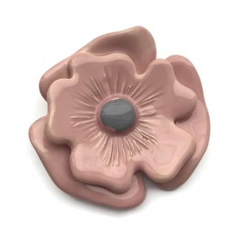 Ceramiczny kwiat róż, zawieszka wisior do biżuterii 70-80mm
