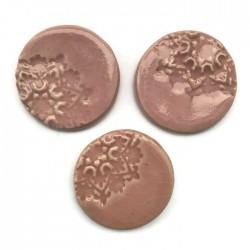 Kaboszon ceramiczny, koło 30mm róż, okrągły