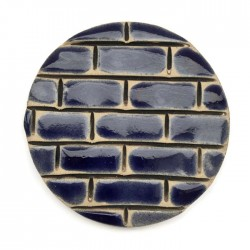 Kaboszon ceramiczny, koło 50mm, szafirowy murek