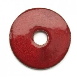 Ceramiczna zawieszka wisior donut czerwona 55mm