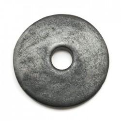 Ceramiczna zawieszka wisior donut grafit 55mm