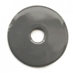Ceramiczna zawieszka wisior donut szary 55mm