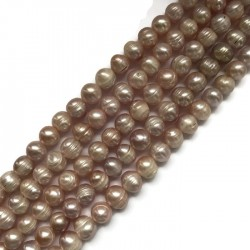 Perła naturalna hodowlana  9~12x9~10mm sznurek