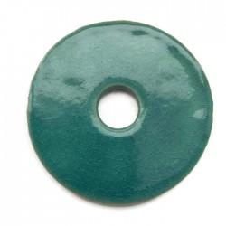 Ceramiczna zawieszka wisior donut turkus 55mm