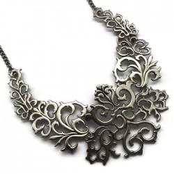 Podstawa naszyjnika ornament kolor srebrny