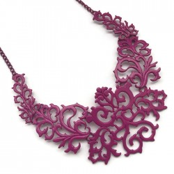 Podstawa naszyjnika ornament kolor różowy