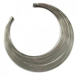 Podstawa naszyjnika druty, kolor srebrny