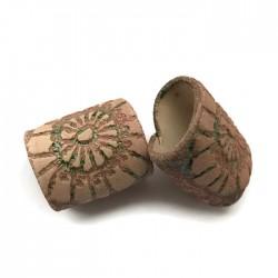 Tunel ceramiczny wałek rurka z ceramiki beż zieleń