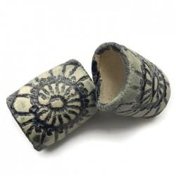 Tunel ceramiczny wałek rurka z ceramiki granat ze wzorem