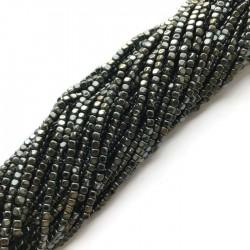 Hematyt kostka 3x3mm czarny sznurek