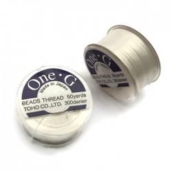 Nici One-G nylonowe 0,25mm White szpulka