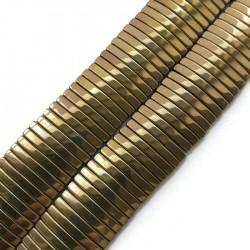 Hematyt prostokąt 18x4x2mm brązowy sznurek