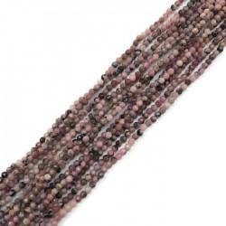 Rodonit kulka fasetowana 2mm sznurek