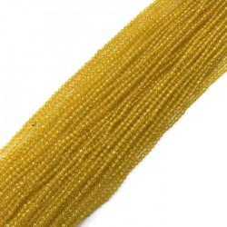 Kwarc kulka fasetowana 2mm sznurek żółty