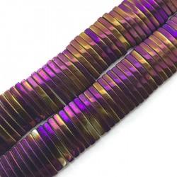 Hematyt prostokąt 18x4x2mm fiolet sznurek