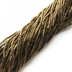 Hematyt wałek 2x2mm brąz sznurek