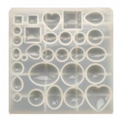 Forma do żywicy forma silikonowa do odlewów 149x147mm kaboszony mix