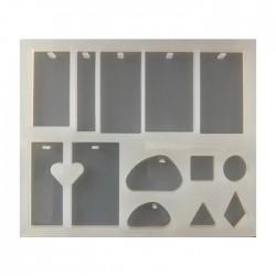 Forma do żywicy forma silikonowa do odlewów 147x123mm zawieszki mix