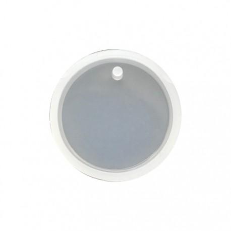 Forma do żywicy forma silikonowa do odlewów 28x7,5mm zawieszki koło