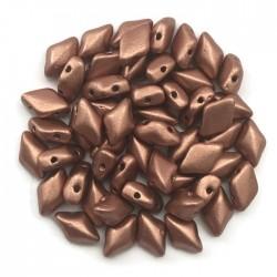 GemDuo koraliki czeskie  Matte Metalic Copper 8x5mm