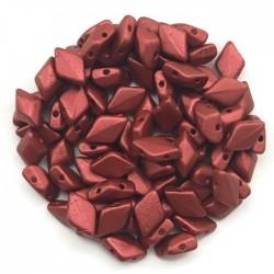 GemDuo koraliki czeskie Matte Metalic Lava  8x5mm