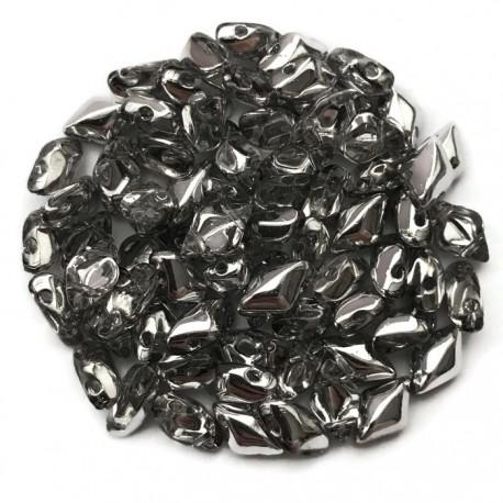 GemDuo koraliki czeskie  Silver 1-2 8x5mm
