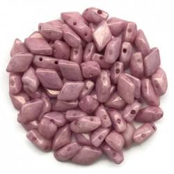 GemDuo koraliki czeskie Luster Metalic Pink 8x5mm